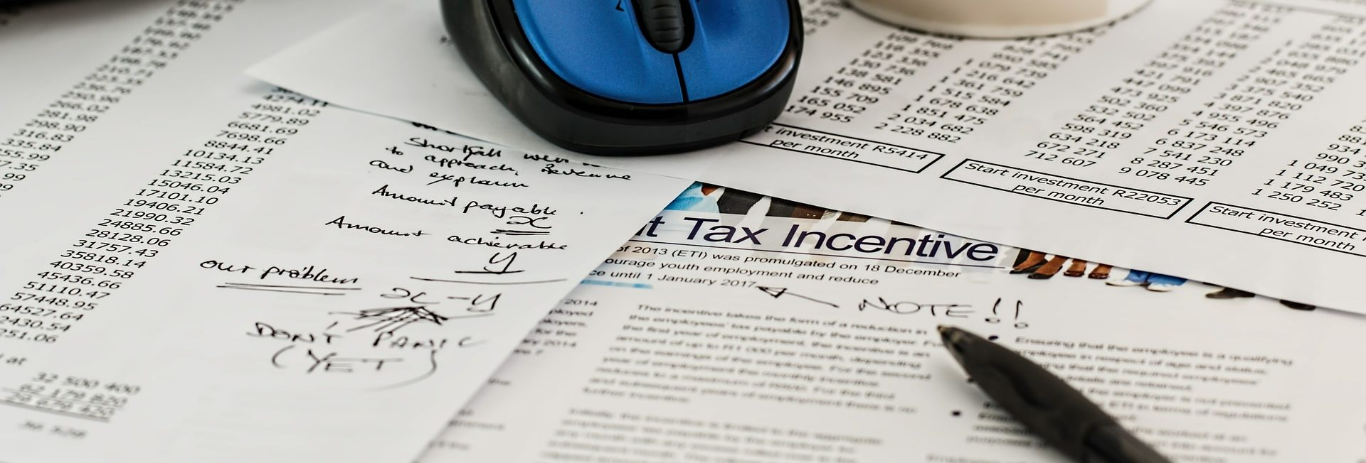 Business and Personal Tax Preparation Header